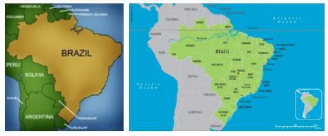 Borders of Brazil